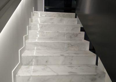 Peldaños Escalera Blanco Ibiza